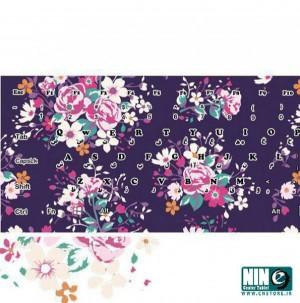 برچسب فانتزی کیبورد گل گلی بنفش مناسب برای لپ تاپ-تصویر 2
