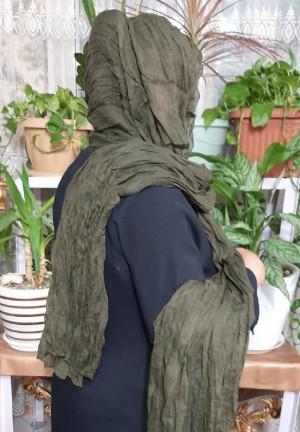 شال نخی هنرمندی مدل چروک