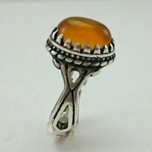 انگشتر جید پرتقالی اصل معدنی-تصویر 3