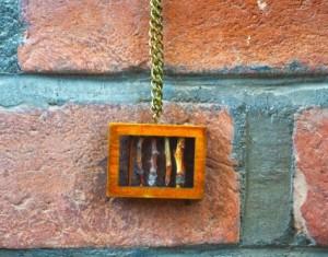 گردنبند چوبی دست ساز مدل Fence-تصویر 2