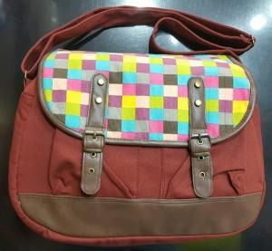 کیف دوشی کتان جدید-تصویر 2