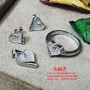 نیم ست نقره زنانه طرح قلب-تصویر 2