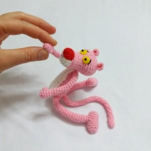 عروسک پلنگ صورتی-تصویر 5