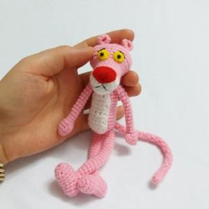 عروسک پلنگ صورتی-تصویر 4