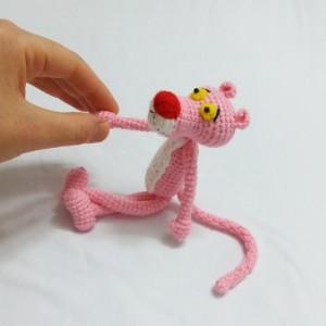 عروسک پلنگ صورتی-تصویر 3