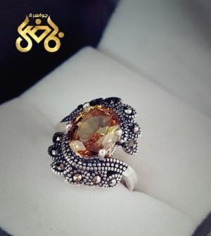 انگشتر نقره زیبای مارکازیتی با نگین الکساندریت ۷-تصویر 2