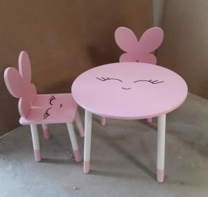 ۲ عدد صندلی مدل پروانه و میز دایره