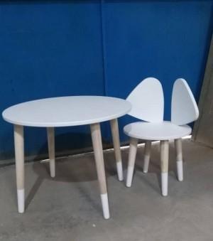 میز و صندلی موشی سفید