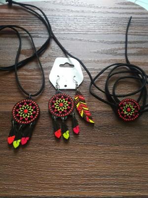 ست گردن بند دستبند گوشواره