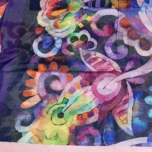 روسری نخی وال ارکیده 118-06-تصویر 2