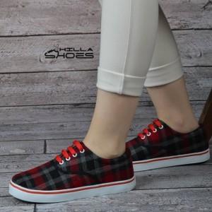 کفش ونس چهارخونه قرمز-تصویر 4