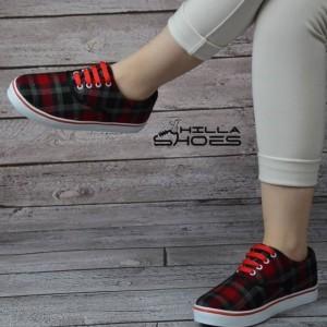 کفش ونس چهارخونه قرمز-تصویر 5