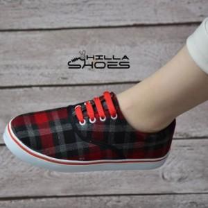 کفش ونس چهارخونه قرمز-تصویر 3