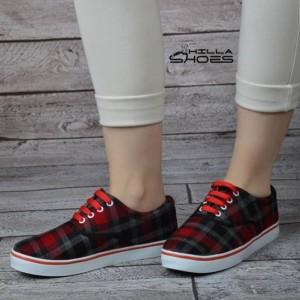 کفش ونس چهارخونه قرمز-تصویر 2