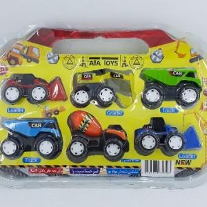 ماشین اسباب بازی راهسازی مجموعه 6 عددی