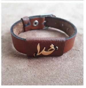دستبند چرم طبیعی ، ترکیب گاوی و بُزی