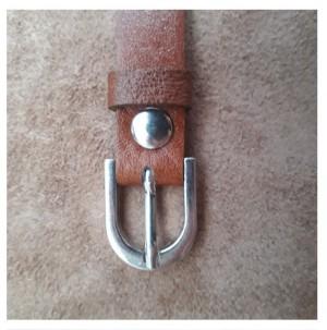 دستبند چرم طبیعی ، ترکیب گاوی و بُزی-تصویر 3