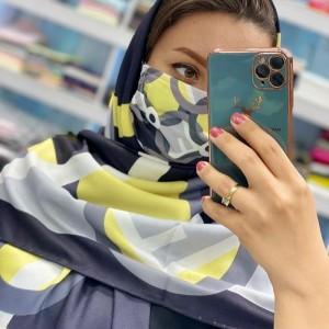 ماسک و روسری فندقی-تصویر 2