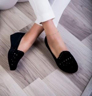 کفش تخت گیوه مخملی
