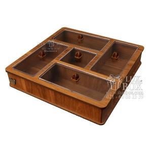 جعبه آجیل خشکبار جعبه پذیرایی دمنوش چوبی لوکس باکس کد LB 28 - 01-تصویر 2
