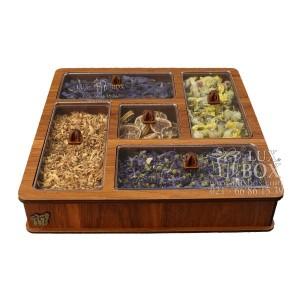 جعبه آجیل خشکبار جعبه پذیرایی دمنوش چوبی لوکس باکس کد LB 28 - 01-تصویر 4