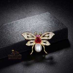 گل سینه – سنجاق سینه پروانه BRC107G0-تصویر 5