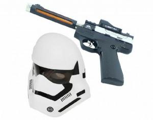 ست تفنگ و ماسک چراغ دارجنگ ستارگان طرح Clone Trooper